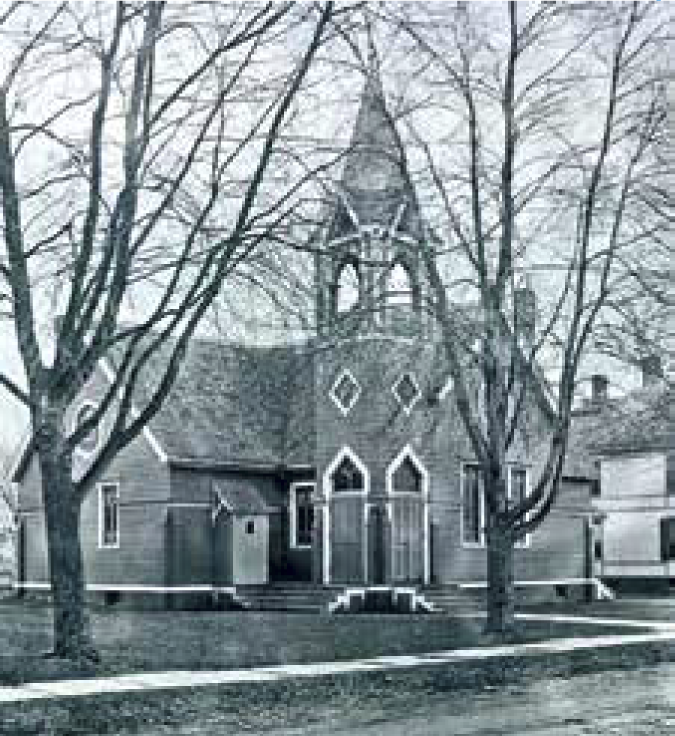 Floral Park NY's first church, the Methodist Episcopal Church, was built on land donated by John Lewis Childs.