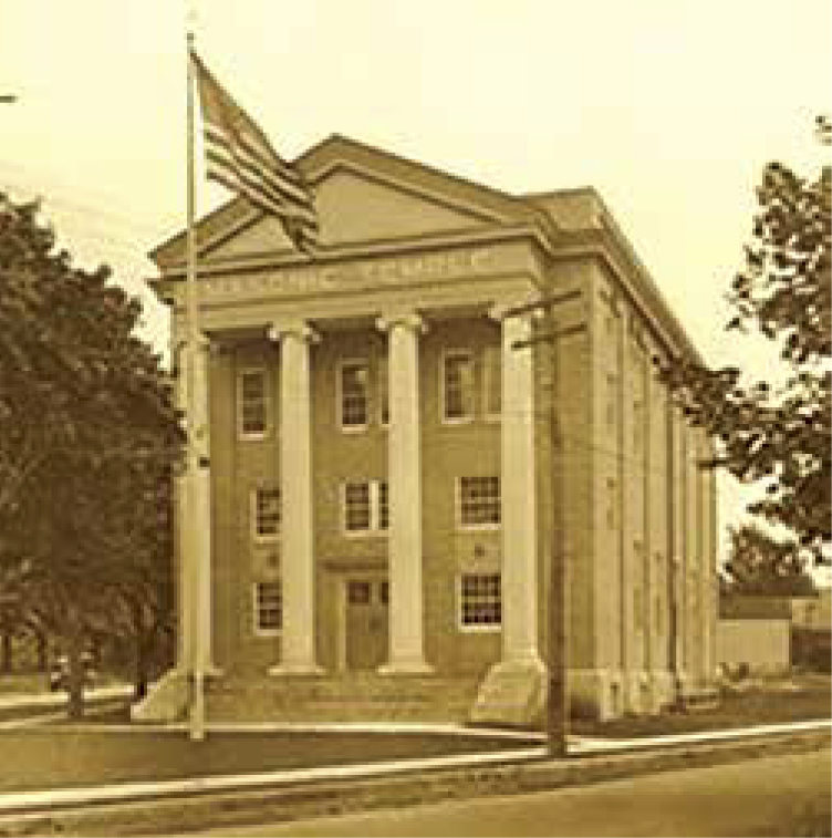 The Floral Park Masonic Temple, also renamed The Centennial Building, is located at Carnation Avenue and Tulip Avenue.